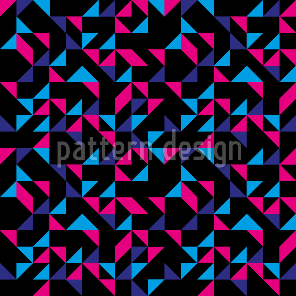 Designtapete Retro Dreiecke
