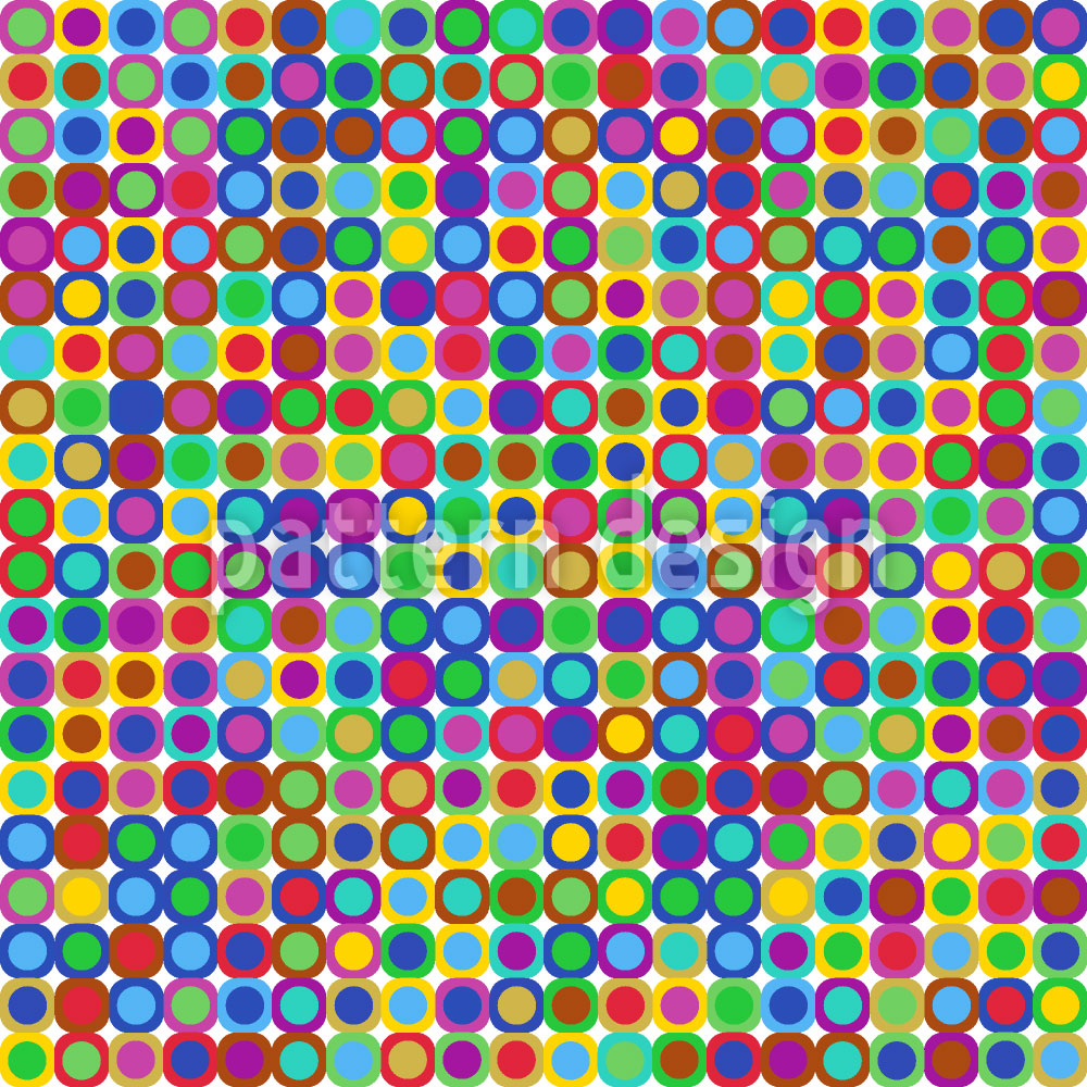 Designtapete Groovy Dots