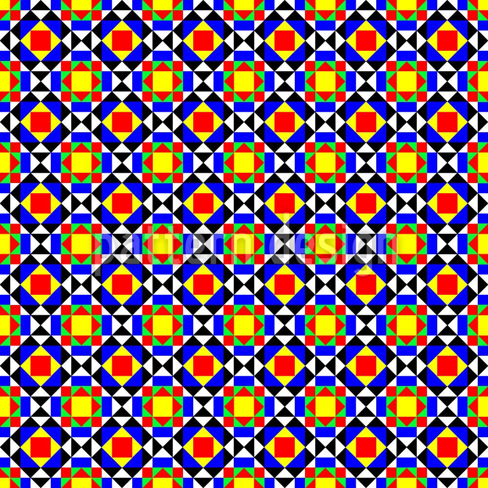 Designtapete Buntes Mosaik