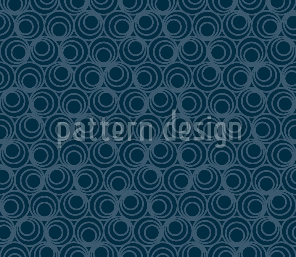 Designtapete Polyps Blue
