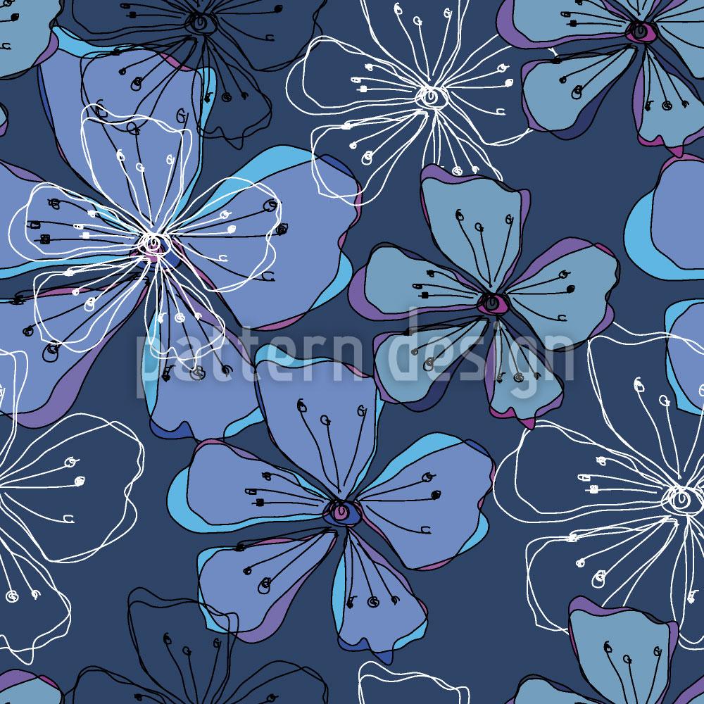Designtapete Liebliche Blüten