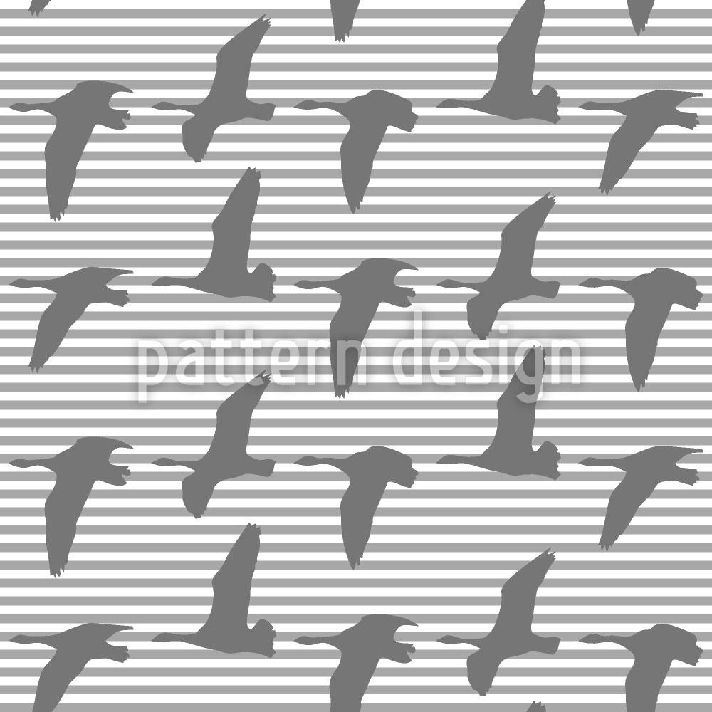 Designtapete Goose Gray