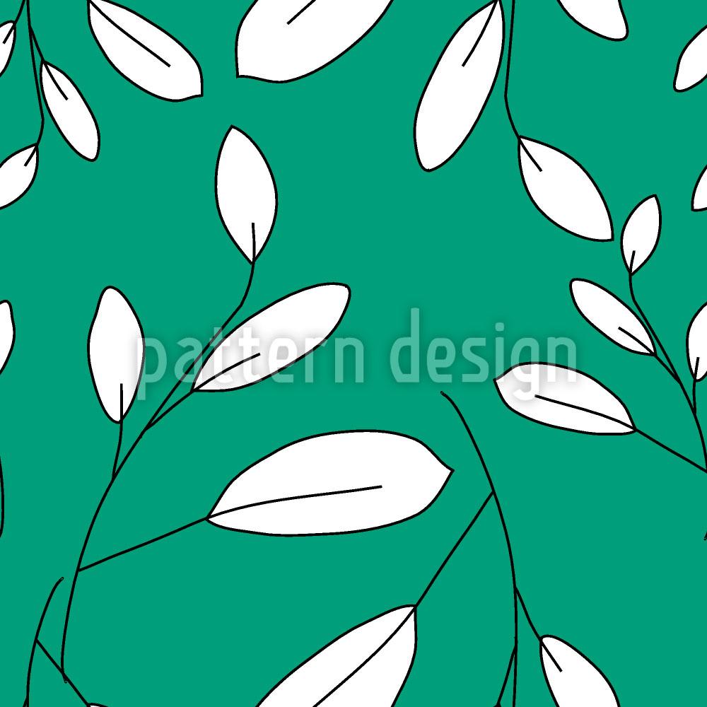 Designtapete Weisse Blätter