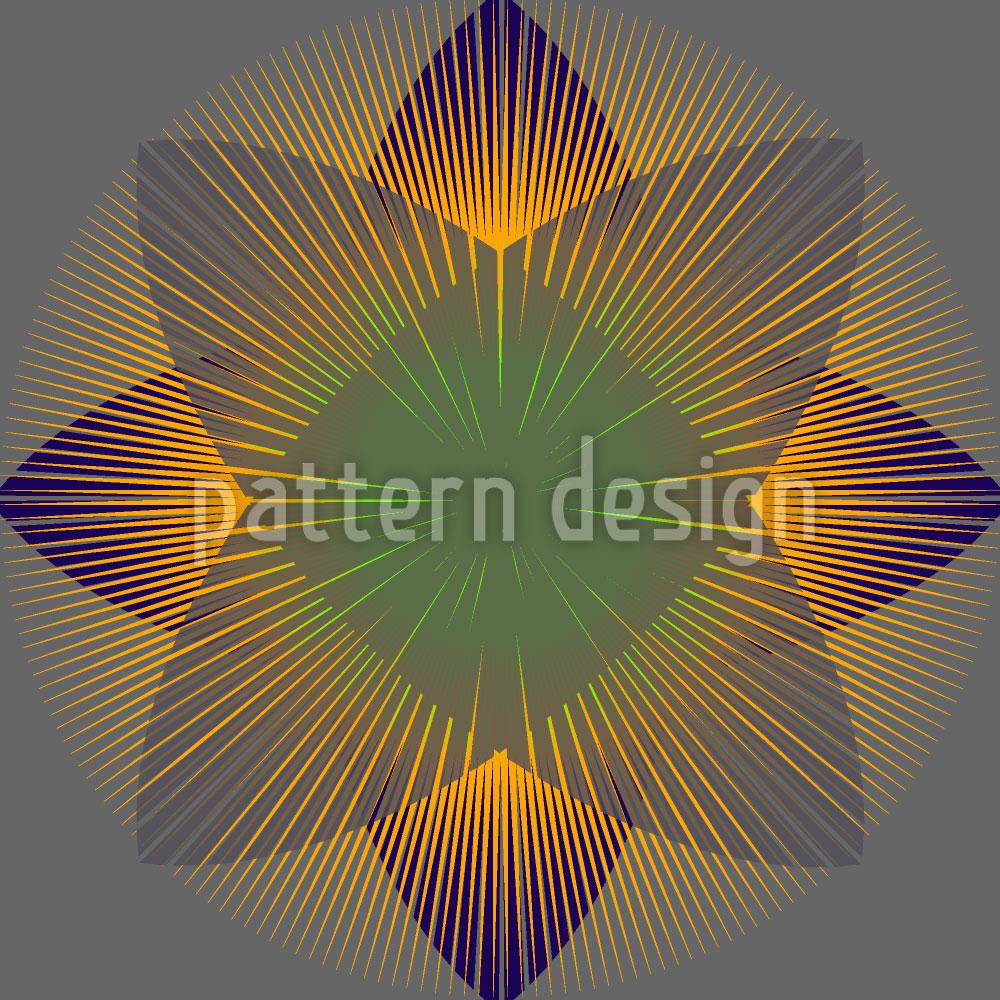 Designtapete Geometrische Blüte
