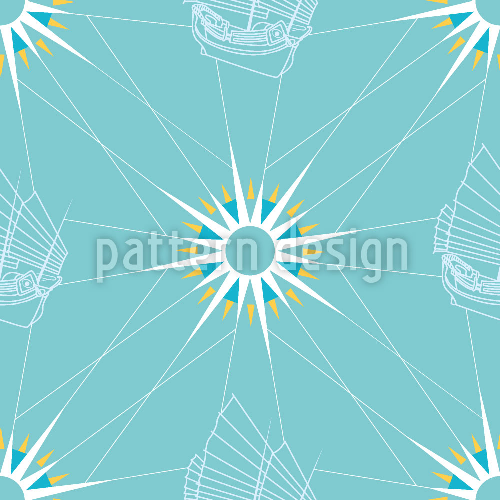 Designtapete Segel Muster