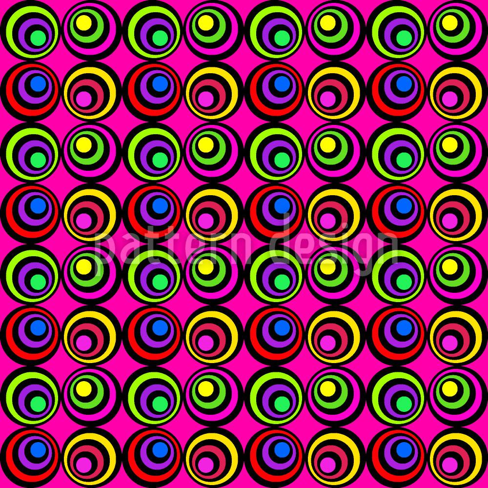 Designtapete Psychedelisches Pink