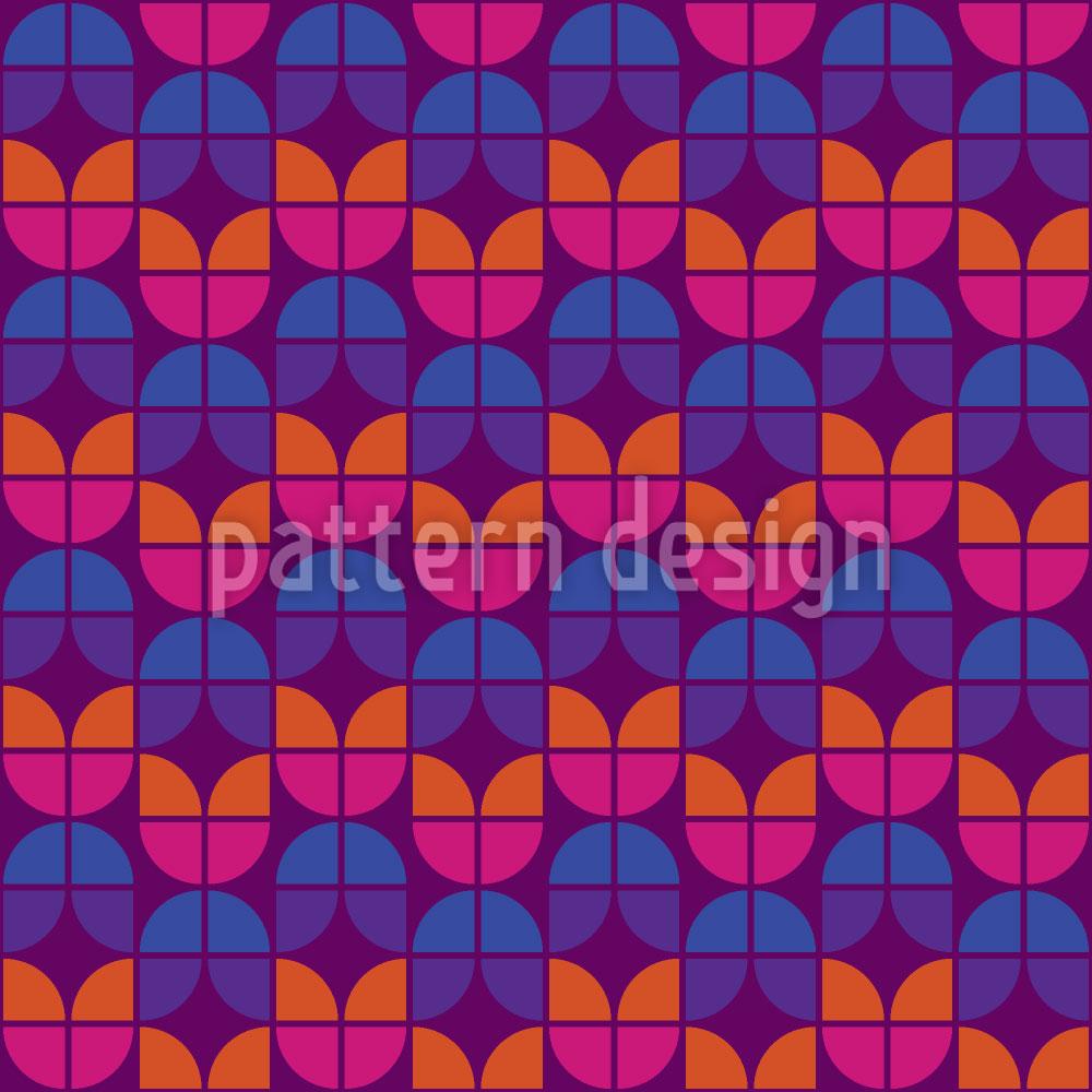 Designtapete Geometrische Tulpen