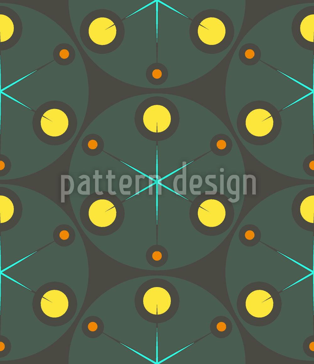 Designtapete Grüne Punkte