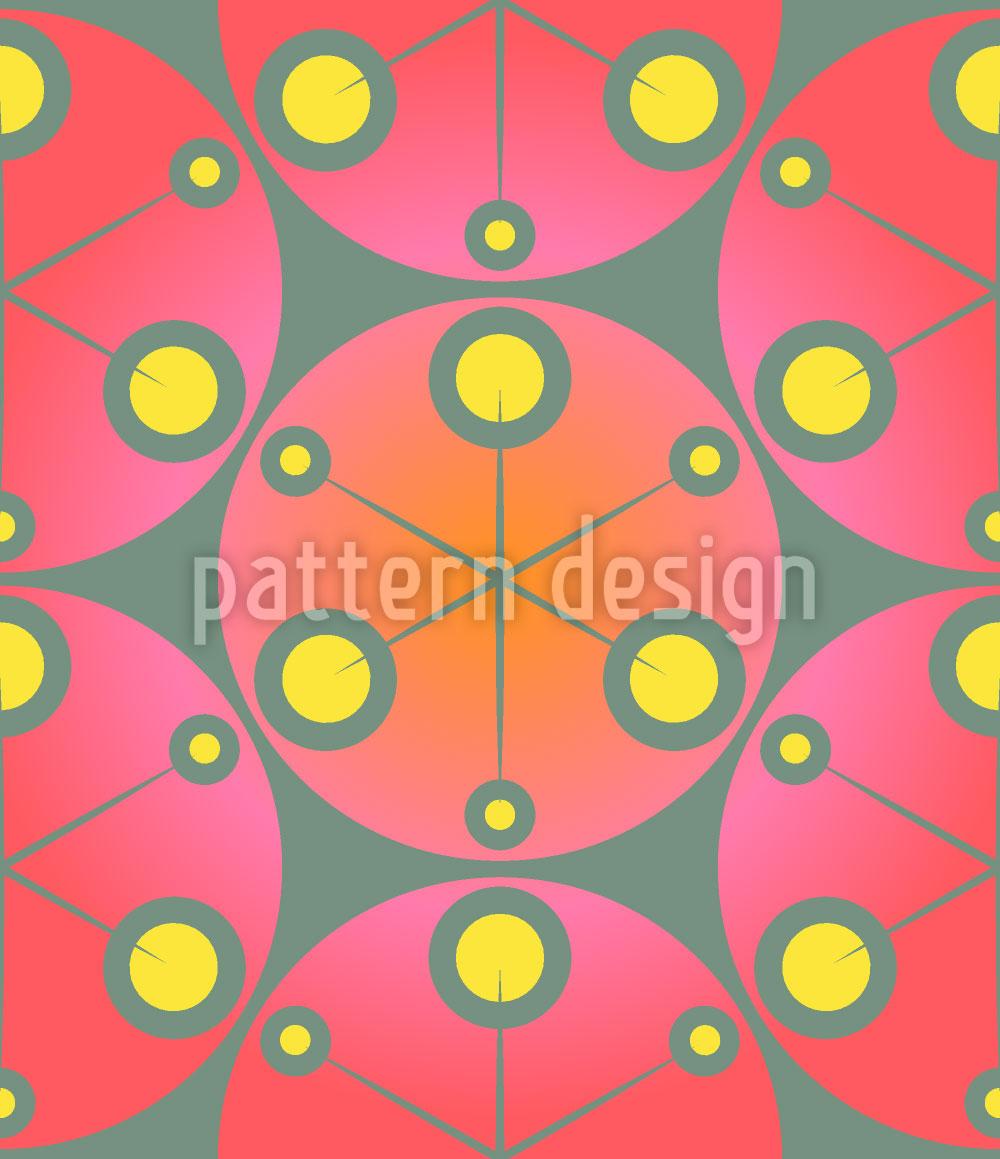 Designtapete Rote Punkte