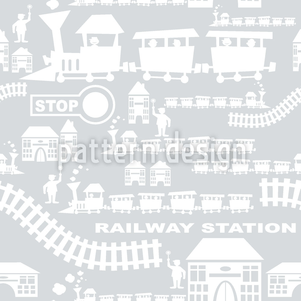 Designtapete Railway Station