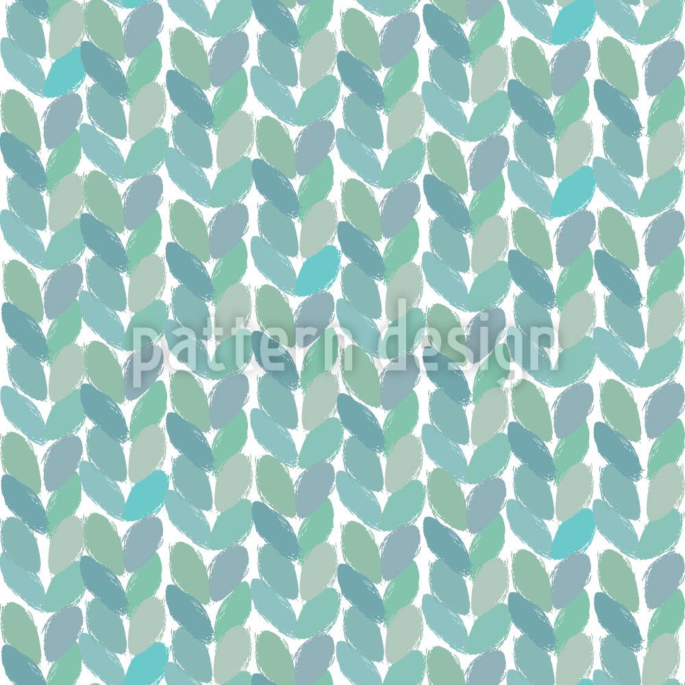 Designtapete Kleine Geordnete Blätter