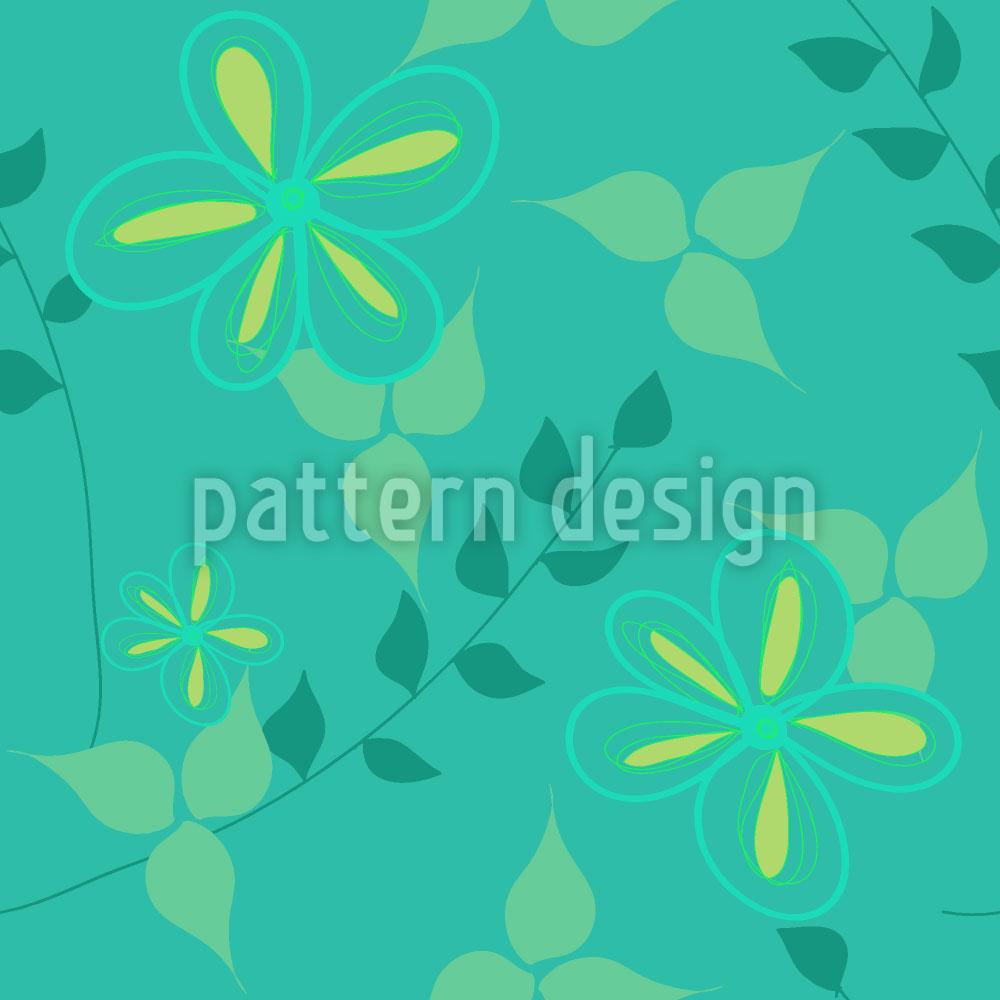 Designtapete Lebendige Flora