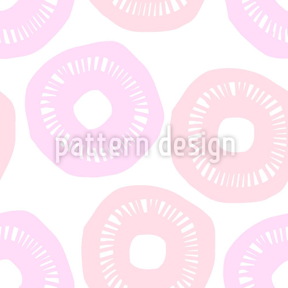 Designtapete Sonnenschein Rosa und Lavendel