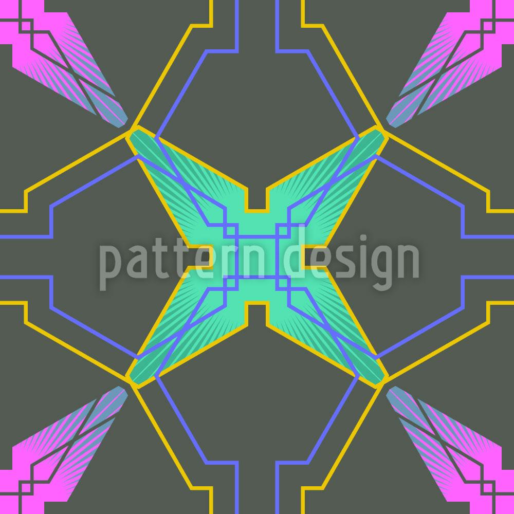 Designtapete Griechisches Gitterwerk