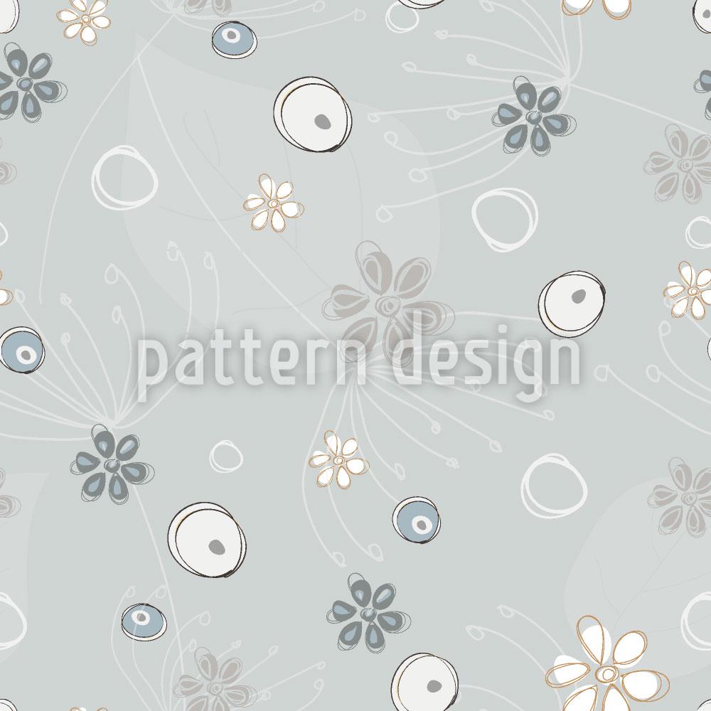 Designtapete Pastellgraues Potpourri