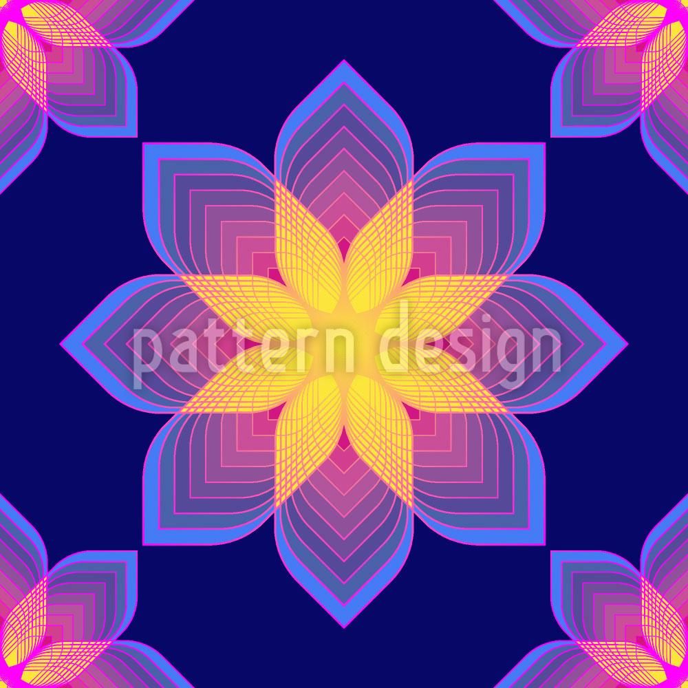 Designtapete Digitale Blumen