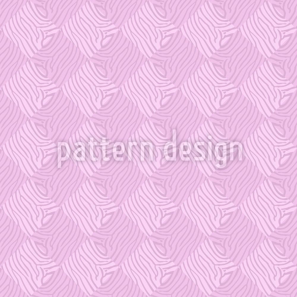 Designtapete Zebralike Pink