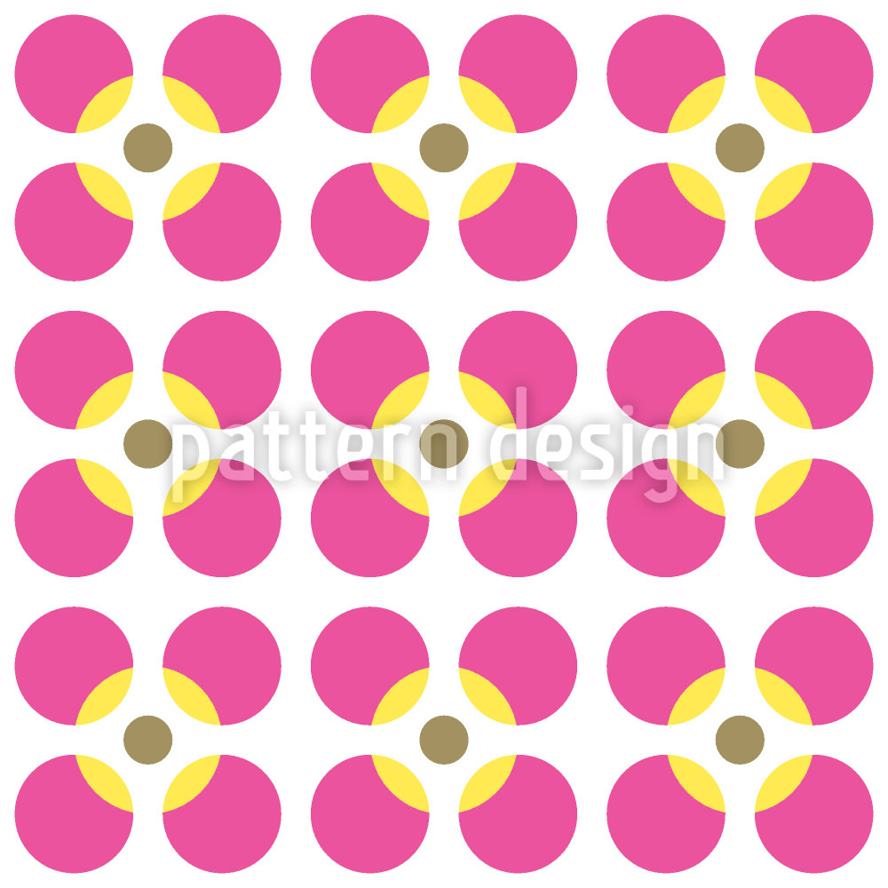 Designtapete Kreisrunde Blumen