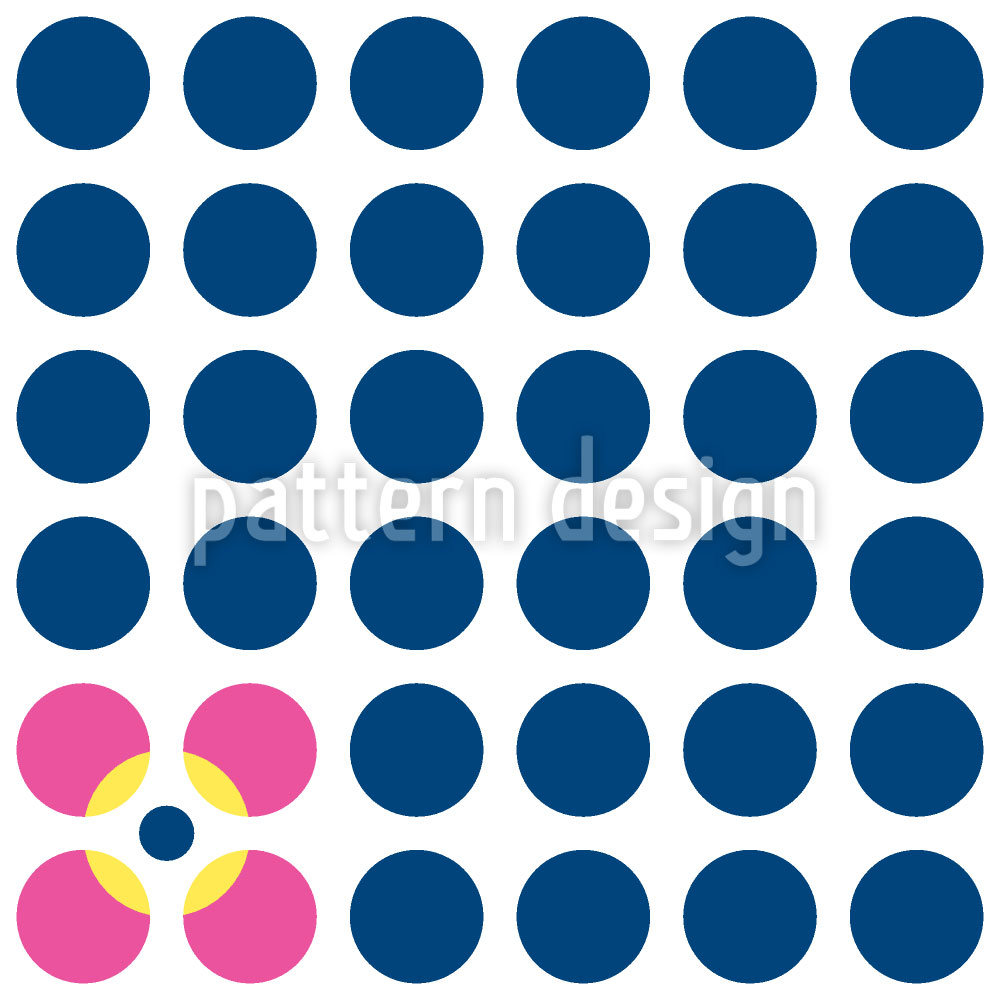 Designtapete Florale Punkte