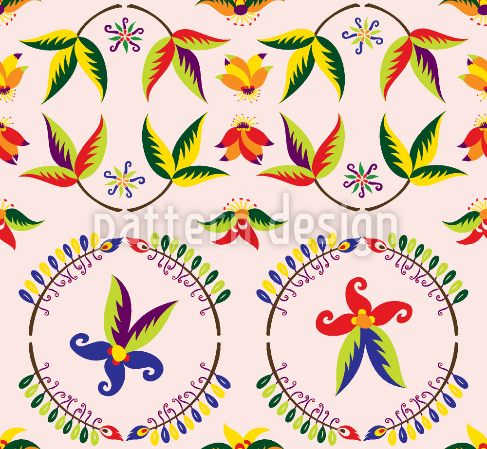 Designtapete Vintage Blume