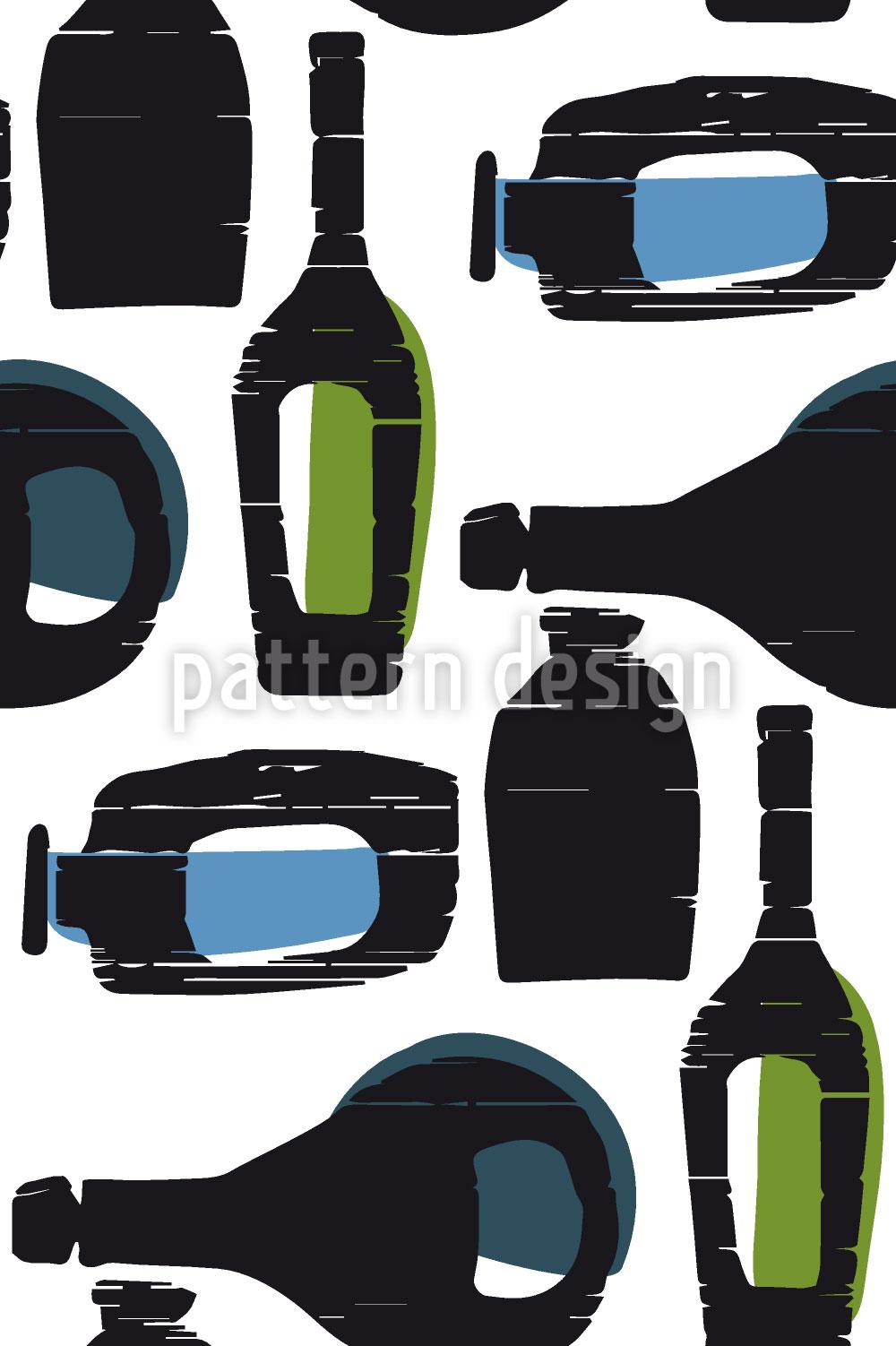 Designtapete Flaschenpost