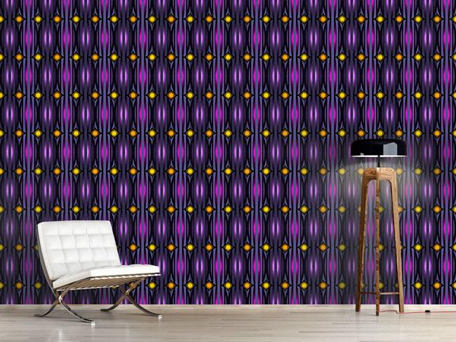 Designtapete Leuchtende Wand