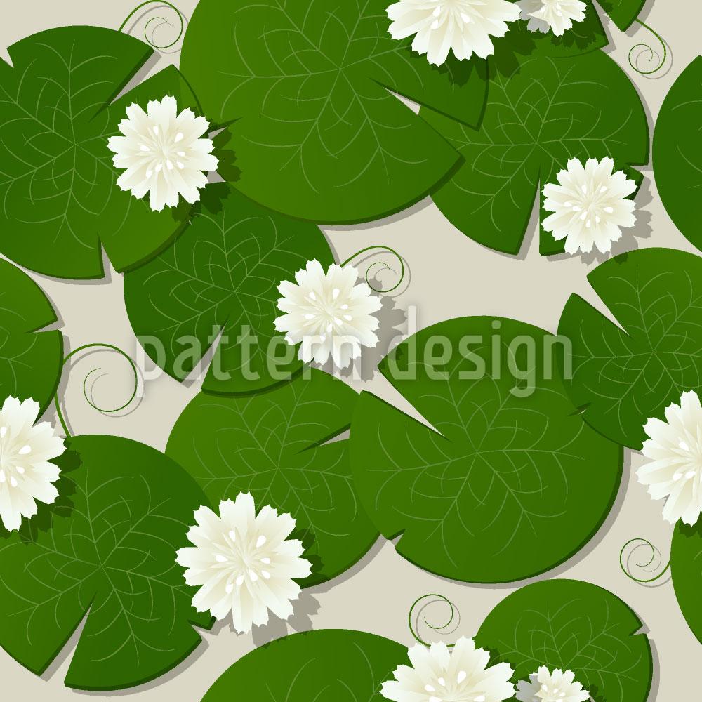 Designtapete Wasserlilien