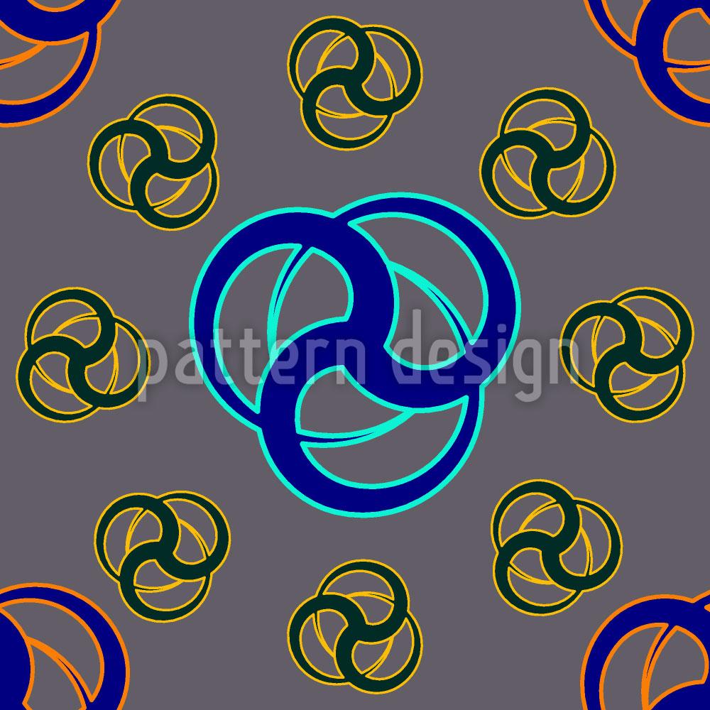Designtapete Tri Tribal