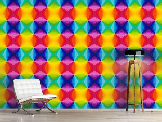 Designtapete Abstrakter Regenbogen