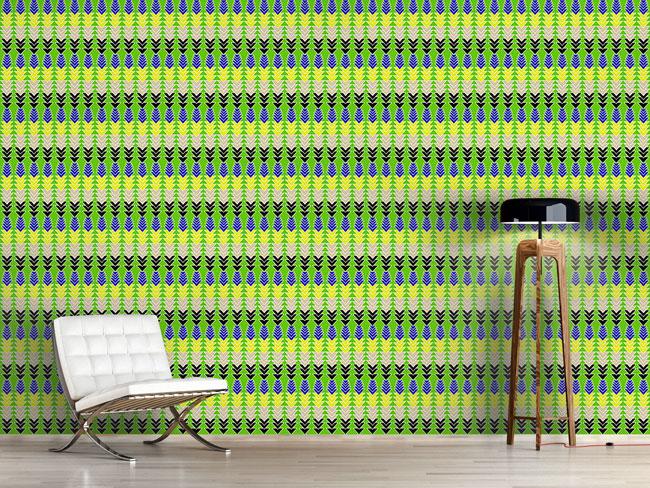 Designtapete Pfeile Auf Grün