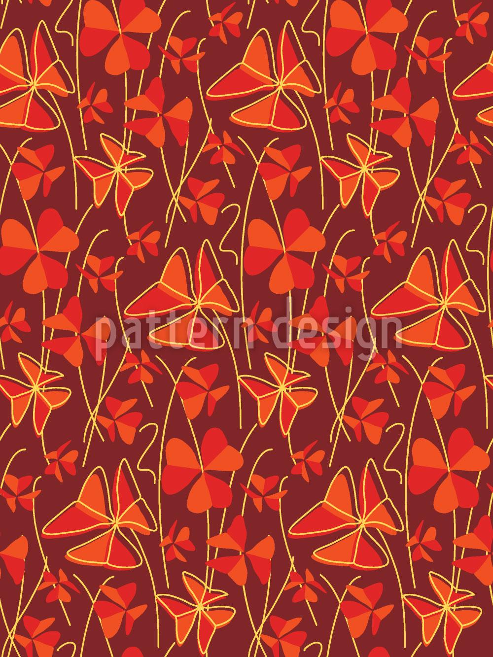 Designtapete Dekorativer Klee