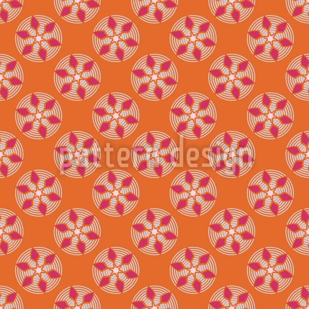 Designtapete Fantasie Schauplatz Orange