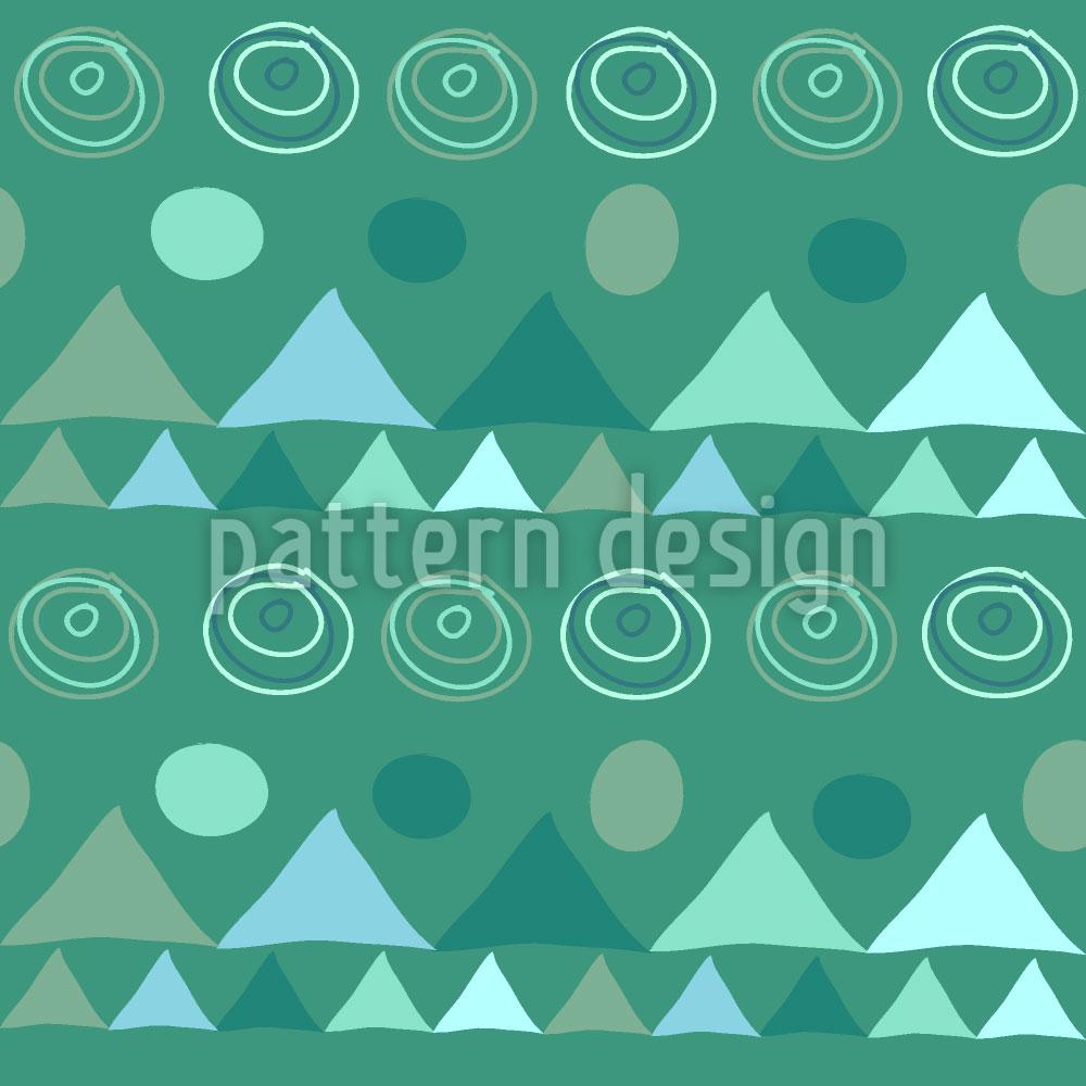 Designtapete Dreiecke In Grün