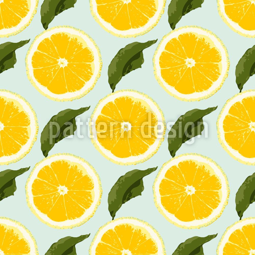 Designtapete Frische Zitronen