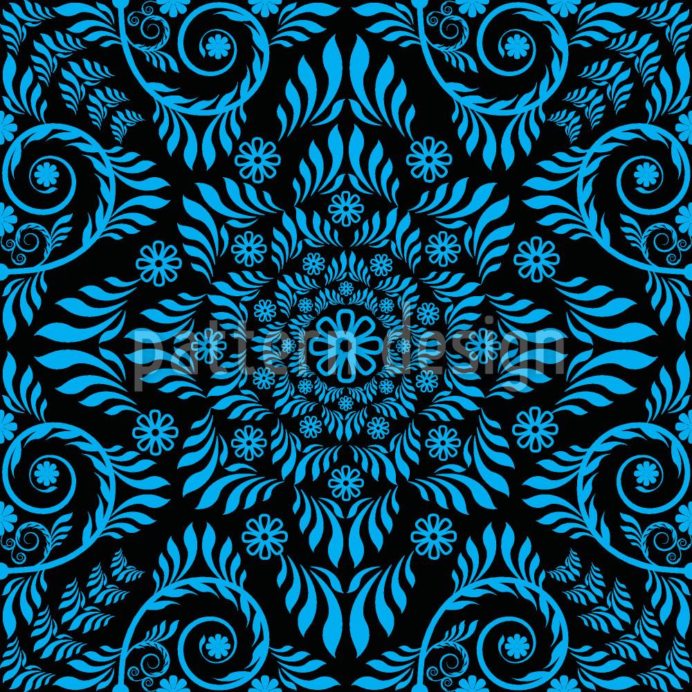 Designtapete Blaues Blühen