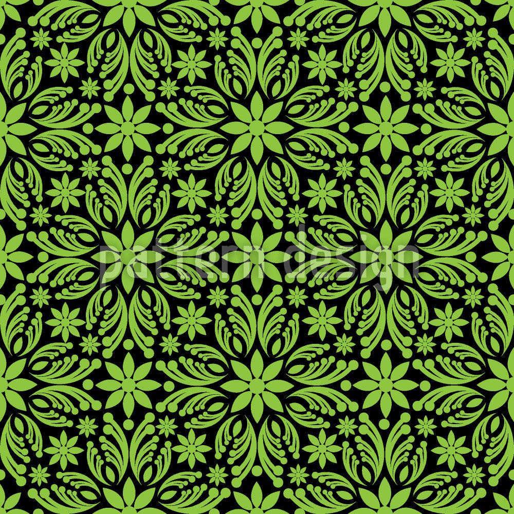 Designtapete Grünes Durcheinander