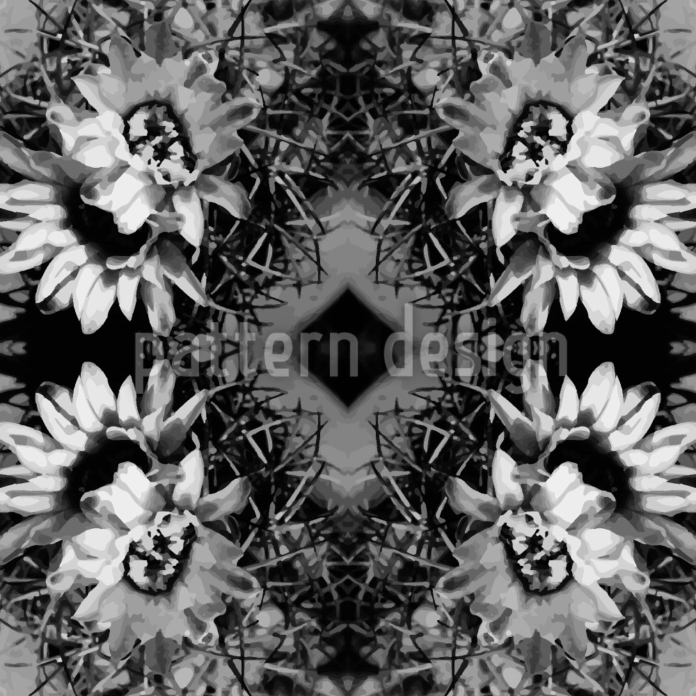 Designtapete Der Blühende Kaktus