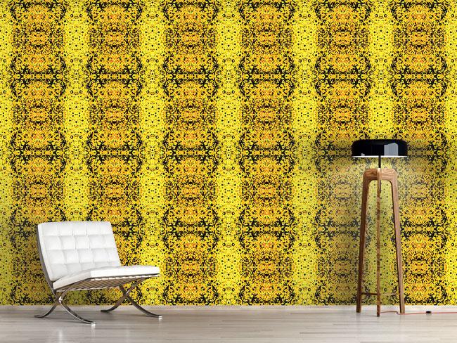 Designtapete Fleckig Gelb