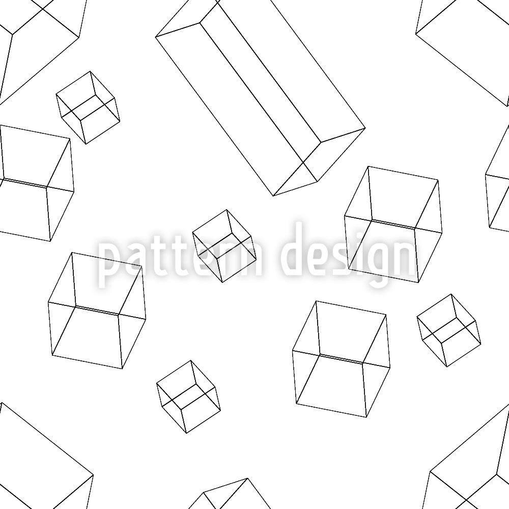 Designtapete 3D Draht Objekte