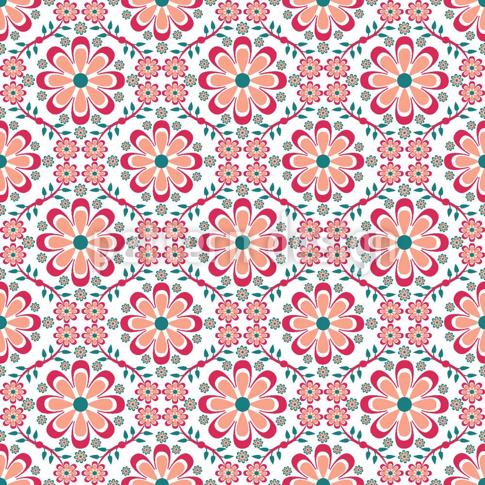 Designtapete Überall Blumen