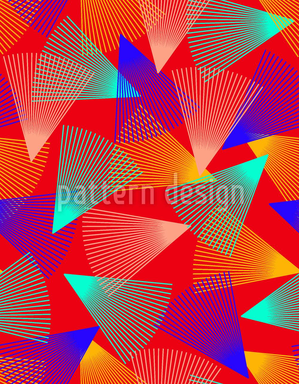 Designtapete Wirbelnde Dreiecke