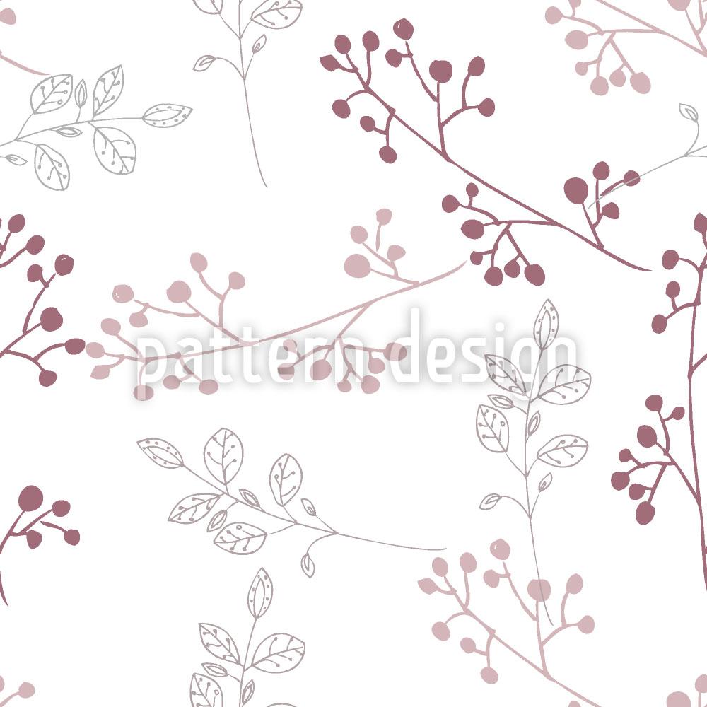 Designtapete Pflänzchen Pastell