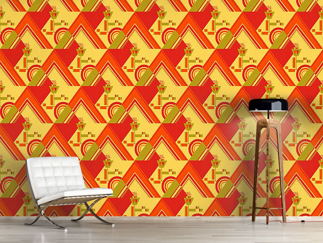 Designtapete Deco Triangles