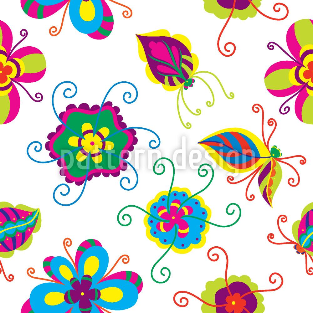 Designtapete Abstrakte Blumen