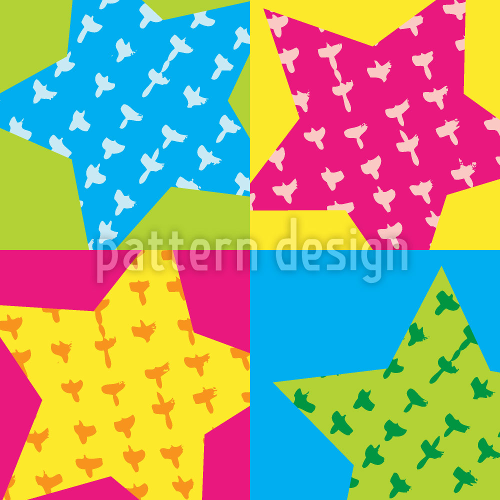 Designtapete Geburtstags Sterne