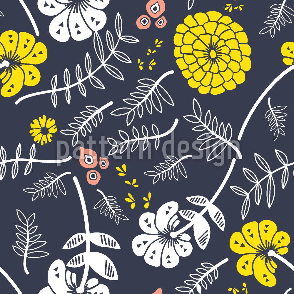 Designtapete Leuchtender Blütenwind