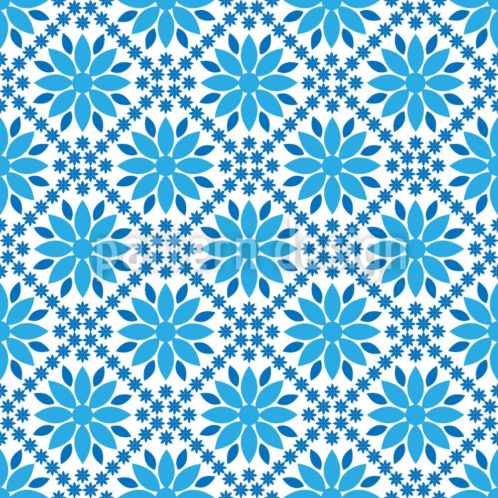 Designtapete Blau Blau Blau