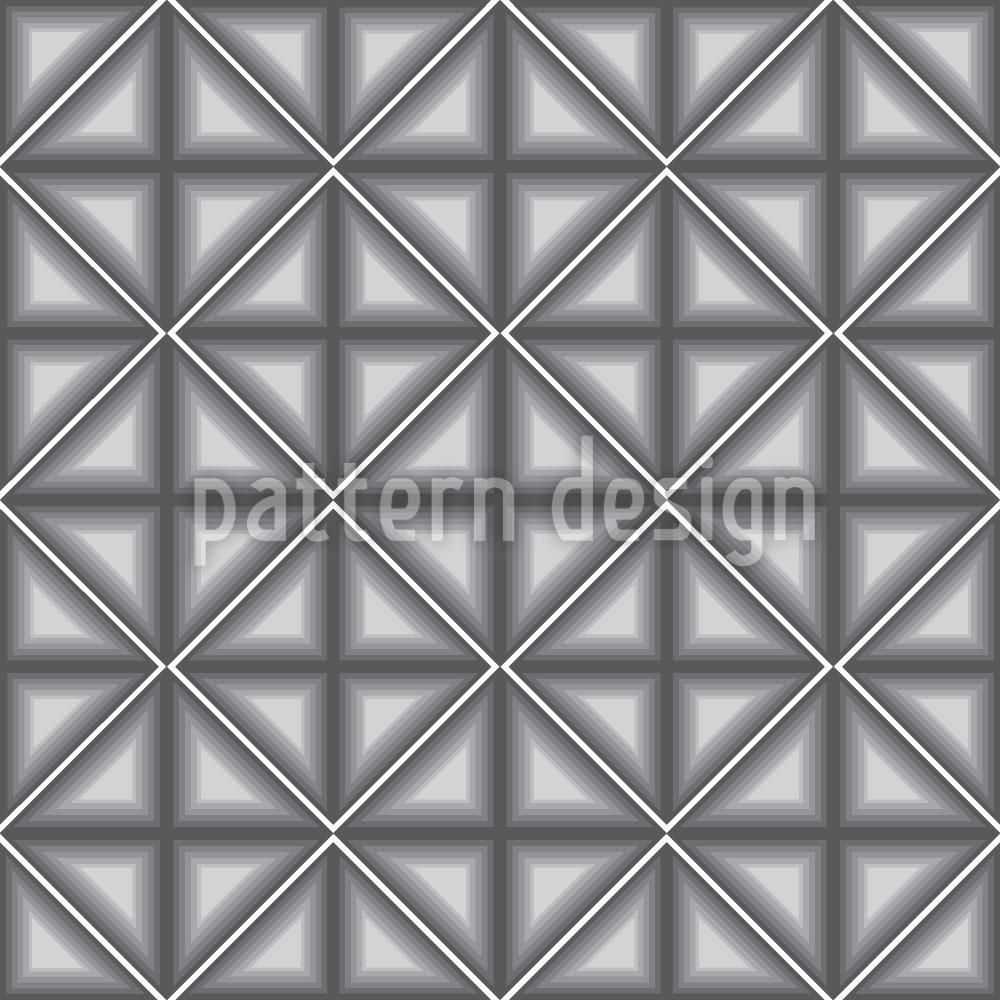 Designtapete Dimensionale Vierecke