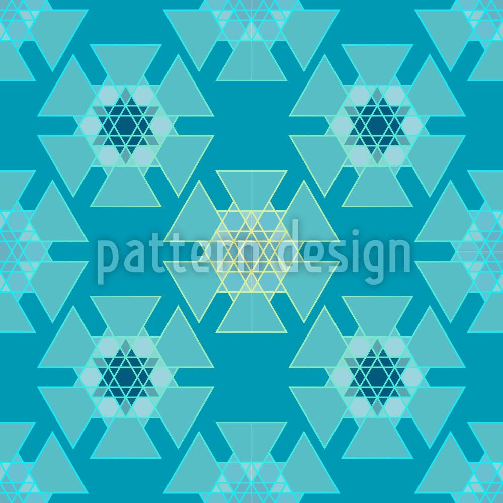 Designtapete Gefrorene Dreiecke