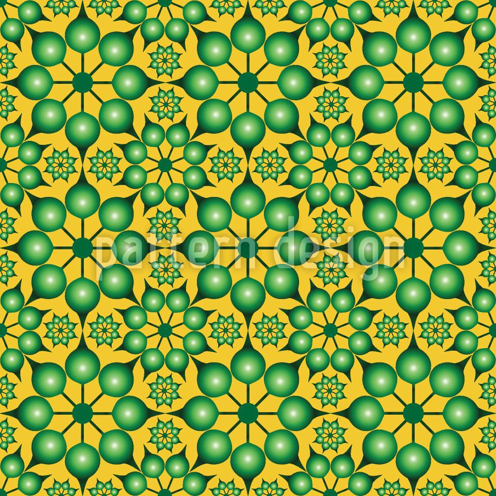 Designtapete Dimensionierte Blumen